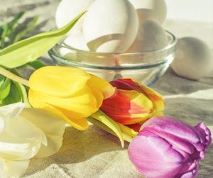 Flores mesa primavera